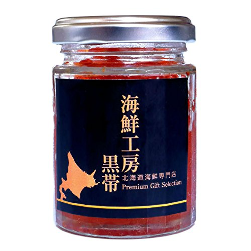 黒帯 北海道ギフト いくら醤油漬け 北海道産 天然鮭イクラ 瓶入 100gx1本