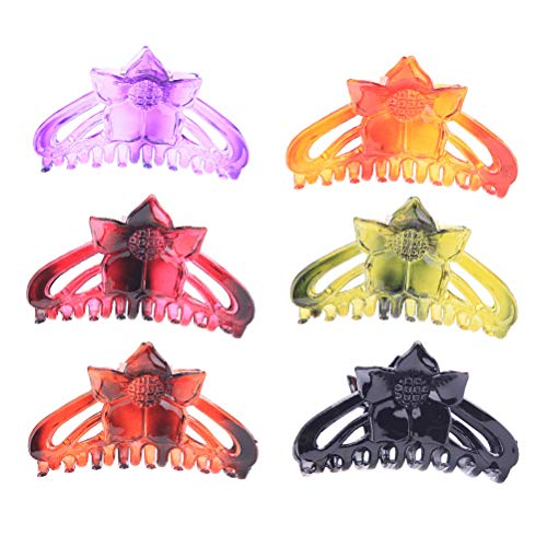 6 Pcs Plastic Ladies Jaw Clips Octopus Clip Hair Claws Hair Clip Hairpins Plastic Headwear Hair Accessories No-slip Grip Colorful Resin Large Grab Cli