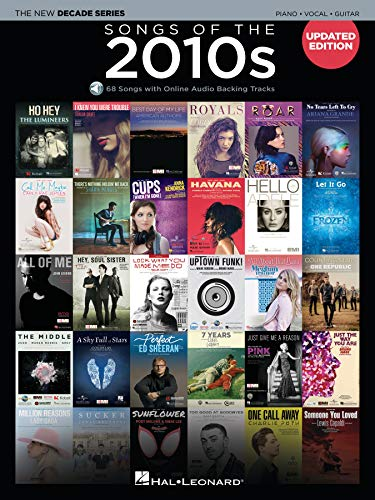 Songs of the 2010s Piano, Vocal, Guitar: 68 Songs with Online audio Backing Tracks (The New Decade)の詳細を見る