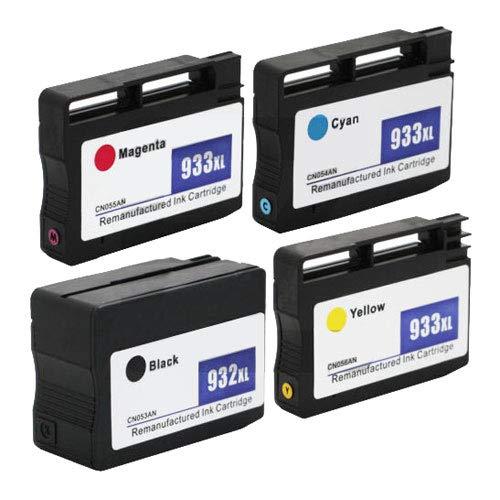 4pcs 932 Cartucho De Tinta 933xl 1bl 1C 1M 1y para HP-Un 2.99 x 2.64 x 0.71 en
