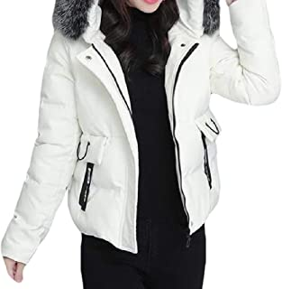 Women Long Sleeve Thickened Hood Casual Loose Short Jacket Overcoats Tops
