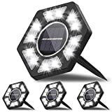 Karvipark Solar Ground Lights,12 LED Garden Lights Solar Powered Patio Outdoor Lights Waterproof In-ground Landscape Lighting for Yard Lawn Deck Pathway Walkway Driveway (4 Pack)