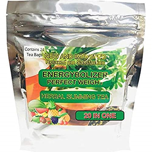 Energybolizer Perfect Weight Herbal Slimming Tea (24 Bags)   Natural Weight Loss and Metabolism Booster for Women and Men   Herbal Detox and Colon Cleanser for Better Digestive Health (20 in 1)