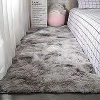 Berukon ラグ カーペット 洗える ラグマット 3色選べる 絨毯 防ダニ 滑り止め付き60×200cm 四季通用 ふわふわ 折り畳み 長方形 センターラグ グレー
