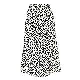 Falda larga de leopardo de cintura alta de las mujeres falda larga de verano playa bohemia falda larga de una...