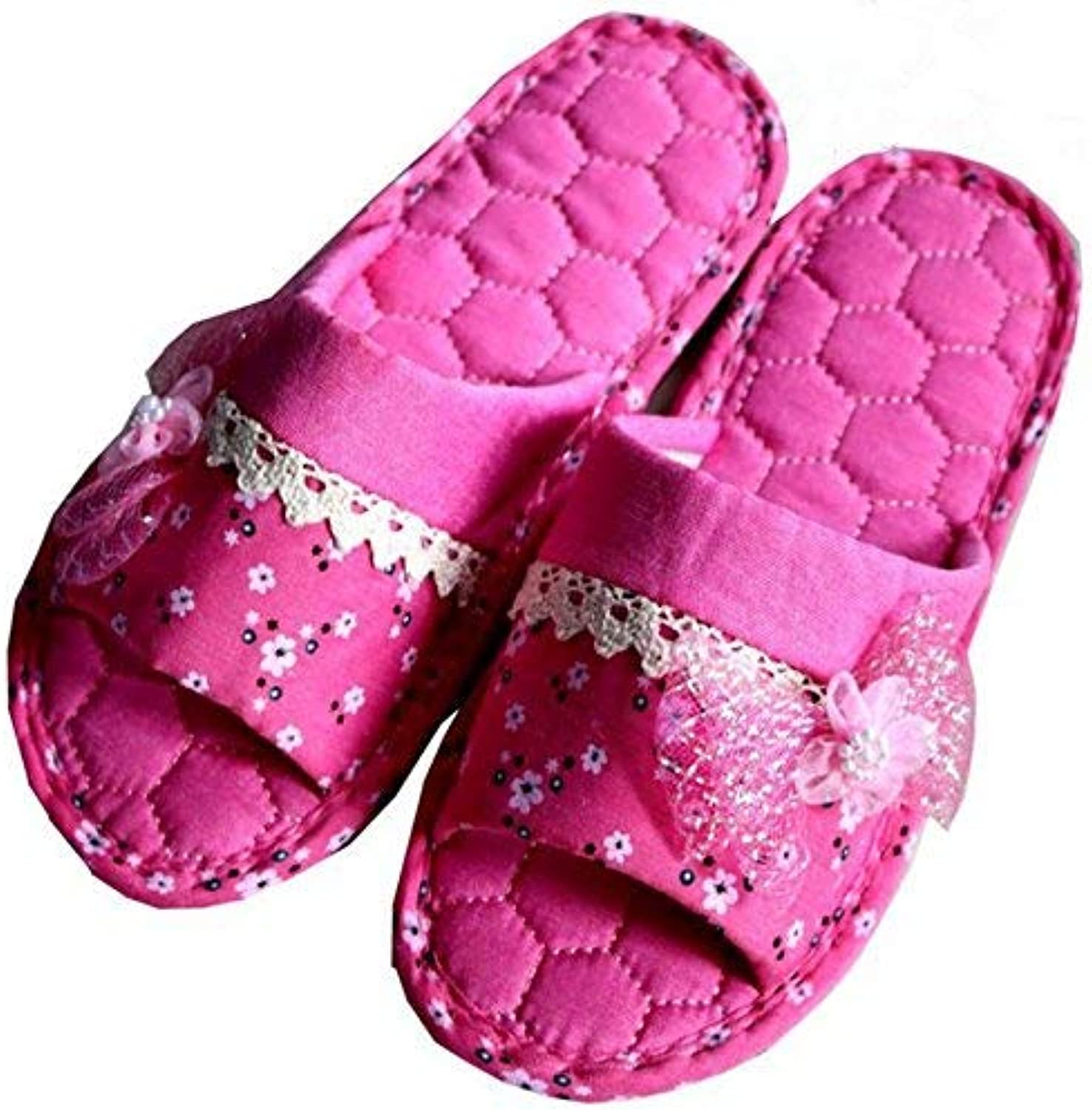 So8ooa Lady Slippers Ladies Fashion Home Interior Slip Casual Slippers Red Pink Purple Keep Warm Slippers Quality for Women
