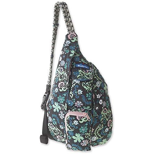 KAVU Mini Rope Bag Cotton Crossbody Sling  - Whimsical Meadow