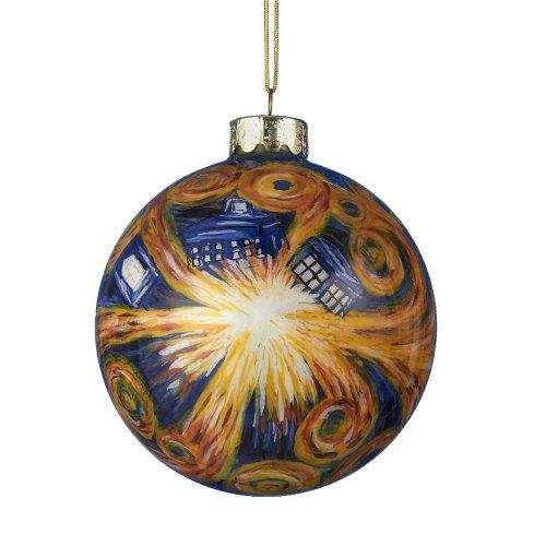 Doctor Who Kurt Adler Starry Night Paint Glass Ball Ornament, 100mm