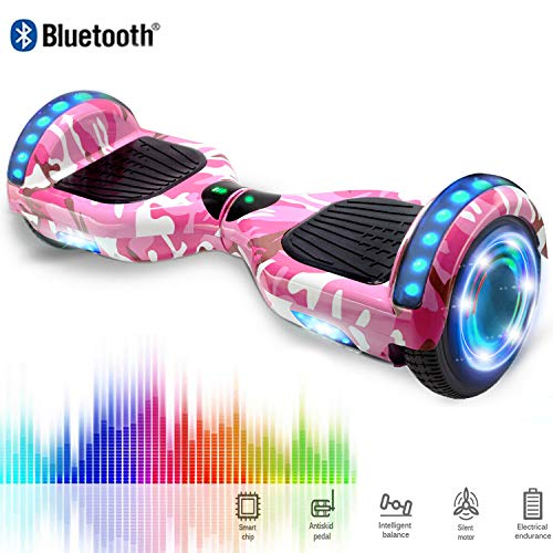 CHIC Hoverboard 6.5'' Patinete Eléctrico Bluetooth Monopatín Scooter