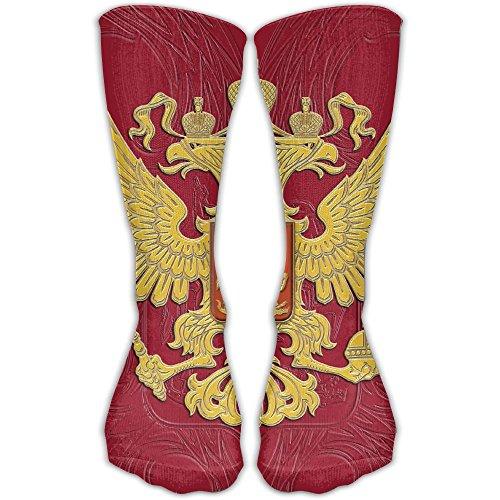 Women Men Classics Socks Russian Flag Russian Coat Of Arms Athletic Stockings 30cm Long Sock One Size