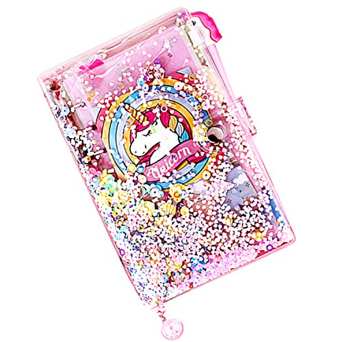 Cuaderno rellenable, tamaño A6, diseño de unicornio.