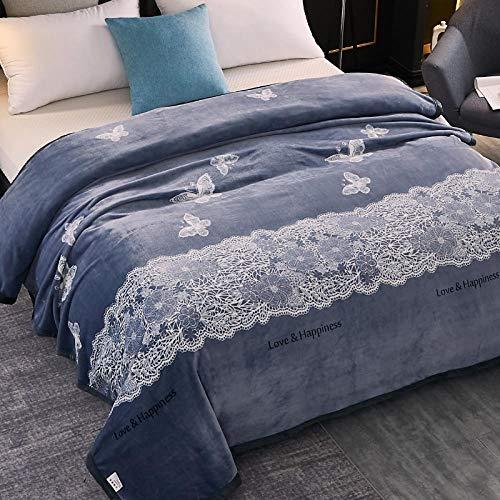 Asbecky Manta Navidad Manta de Lana de Franela Manta de Cama cálida Suave y acogedora para sofá Manta de Microfibra Multiusos-Los 230x250cm_V