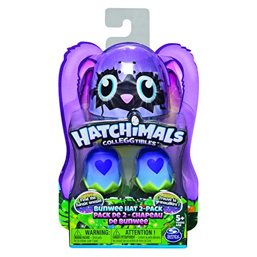 Hatchimals 6045509 - 2 CollEGGtibles Sammelfiguren im Ei mit Oster - Bunwee - Mützen, 2er - Pack