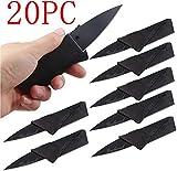 WSeasy 20 Stück Kreditkartenmesser Scheckkartenmesser Taschen Messer Kreditkartenformat Scharfes...