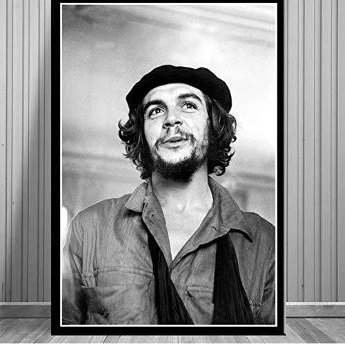 QINGRENJIE Che Guevara Portrait Poster Revolution Man Wall Art Pittura su Tela per Soggiorno Decorazioni per la casa Poster e Stampe 40 * 60 cm Senza Cornice