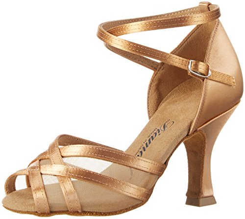 Diamant Damen Tanzschuhe 035-108-087 Standard & Latein, Beige (Bronze), 39 1/3 EU (6 UK)