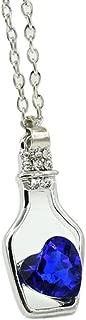 Kstare Necklace, Women Fashion Crystal Necklace Love Drift Bottles Choker (Dark Blue)
