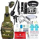 Kit de Supervivencia,para Viajar Caminar Acampar al Aire,Paquete de Supervivencia de Bolsa de Herramientas,con Manta de Emergencia y Multifuncional Bolsa de Supervivencia de Emergencia (5)