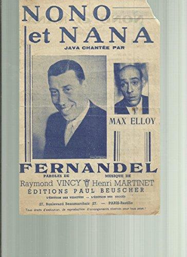Nono et Nana - Java chantée Max Elloy - Fernandel