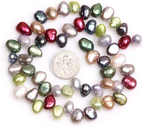 Sweet & Happy Girl's Store Natural Freshwater Pearl Beads Strand 15 Inch Jewellery Making Beads