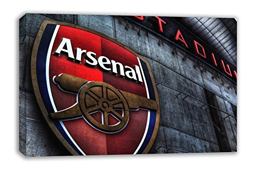 "ARSENAL FC LOGO THE EMIRATES STADIUM CANVAS WALL ART (30"" X 18"")"