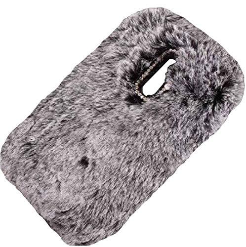 Lenovo Vibe P1M Hülle, haarige flauschige Wolle, süße Villi Winter warm weich neue dünne Hülle, DANGE künstlicher Lichtschutz dünne Schale für Lenovo P1M schwarz