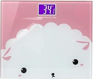 Báscula electrónica inteligente de vidrio para el baño, balanza de peso corporal, balanza electrónica, baterías, pantalla LCD, peso digital, báscula de pesaje (color: B)