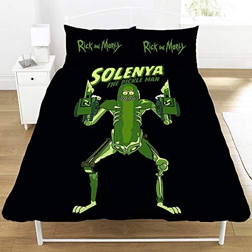 Rick & Morty Bettwäsche-Set für Doppelbett, Polyester, Mehrfarbig