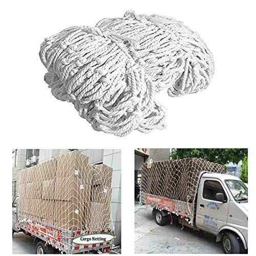 Wit nylon veiligheidsnet, Aanhangernetten Containernetwerk Cargo overlays, Wanddecoratie net, Veiligheidsnet voor planten, Voetbalnet, 2 * 5m (Size : 4 * 5M(13 * 16ft))
