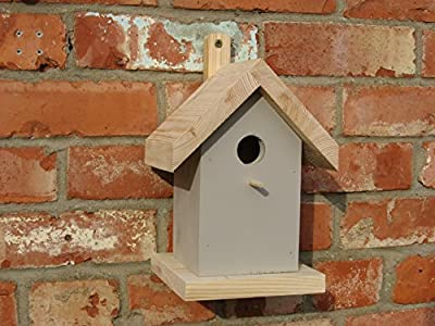 Bird Nesting Box for blue tits, coal tits and marsh tits. - conforms to RSPB specification - Grey from