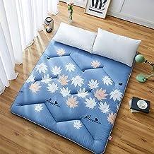 Futon Mattress, Japanese Tatami Floor Mat Sleeping Bed Foldable Futon Mattress Topper Comfort Portable Folding Single Doub...