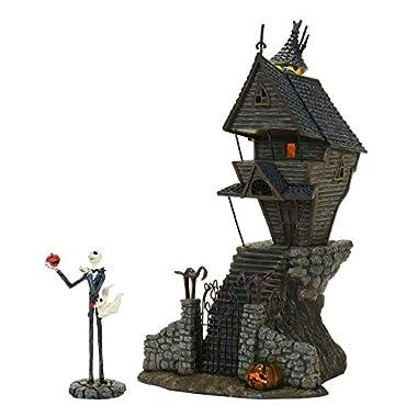 Department 56 Nightmare Before Christmas Village Jack Skellington's Lit House