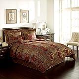 CROSCILL 4 Piece Queen Comforter Set, Polyester, Red