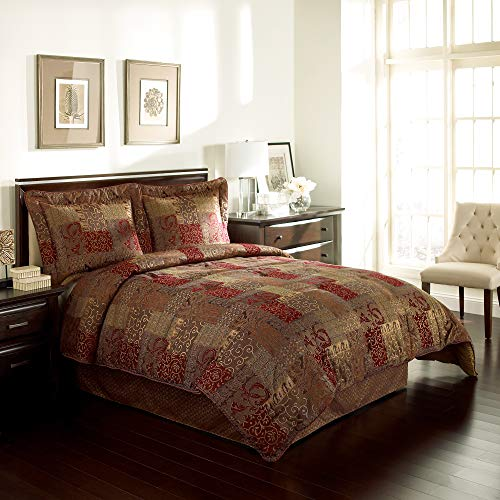 Croscill SCDX6405SET07 Galleria King Comforter Set, Red