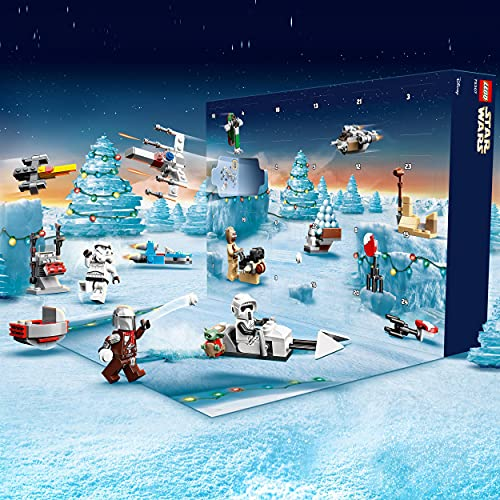 LEGO 75307 Star Wars Advent Calendar 2021 Toy Building Set, The Mandalorian for Kids Age 6 with Baby Yoda Minifigure