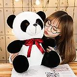 Juguete de Peluche de Arco Lindo Oso Panda Animal de Dibujos Animados Suave Panda en...