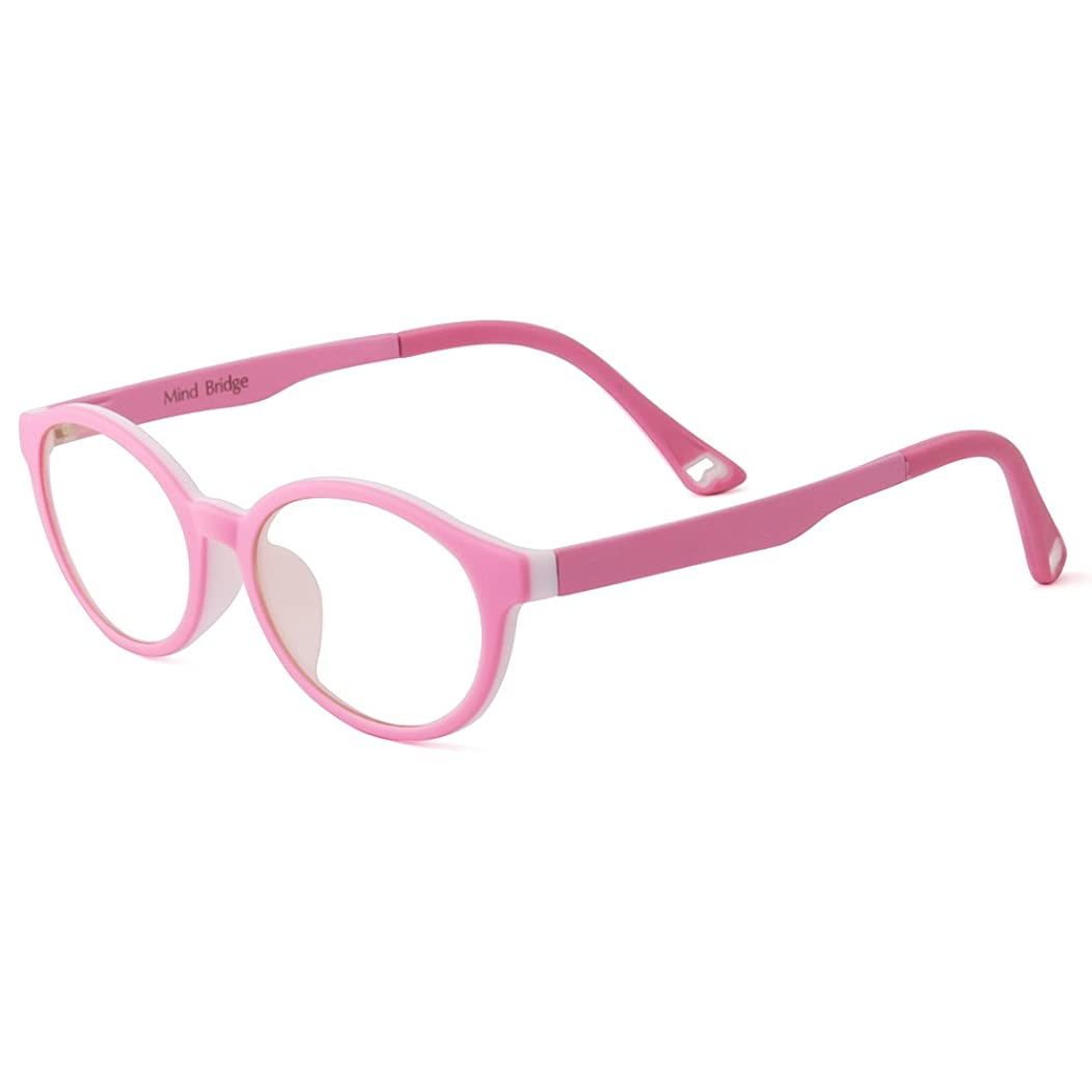 Mind Bridge Kids Computer Glasses Video Gaming Glasses - Anti Harmful Blue Light/UV400 | Anti Glare | Protection Eyewear for Children Digital Screen Time & Technology Use | Model 1029 (Pink)