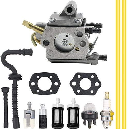ZAMDOE Carburador para Stihl MS192TC MS192T MS192 Motosierra, reemplaza para ZAMA # C1Q-S258 1137-120-0650 carburador, con Kit de Ajuste de Filtro de Combustible de línea de Combustible