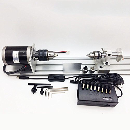 Find Bargain Toauto DIY Wood Mini Lathe with B16 Collet for Polishing Cutting Drill Drilling Rotary ...