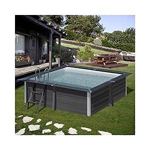 Gre Pools KPCOR28 GRE KPCOR28-Piscina compuesto cuadrado AVANTGARDE 326 x 326 x 96 cm, con escalera de acero inoxidable…