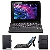 NAUC Tasche Hülle für Medion Lifetab S10321 Schutzhülle Tablet Cover Case Bag, Modellauswahl:Schwarz mit Bluetooth Tastatur