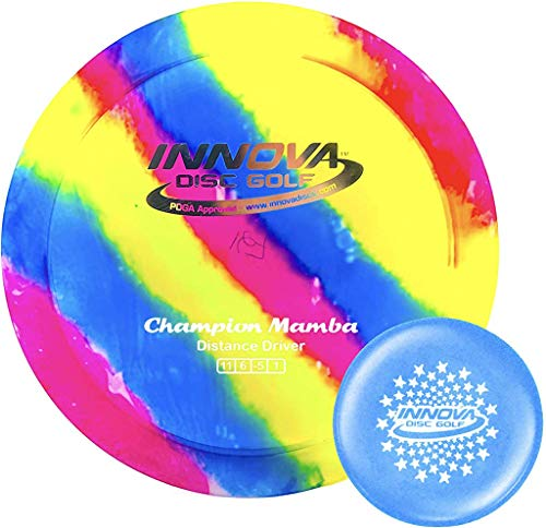 Innova I-Dye Champion Mamba Disc Golf Distance Driver with Stars Stamp Innova Mini (Colors and Designs Will Vary) (170-175g)