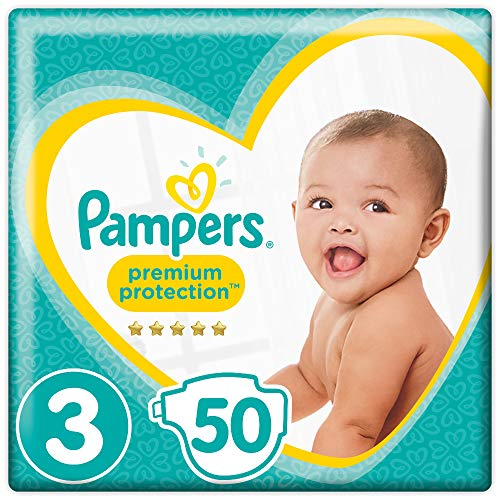 Pampers Premium Protection Windeln, Gr. 3 Midi (6-10 kg), 1er Pack (1 x 50 Stück)