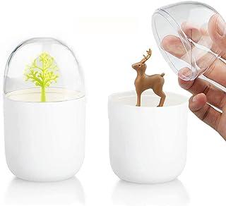 Qtip and CottonBallHolder, ToothpickHolder, Q-tip Dispenser Apothecary Jars Bathroom, Acrylic Cotton Swab Holder Organi...