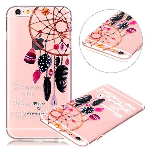 iPhone 7 Plus Case, iPhone 7 Plus Clear Case,PHEZEN Feather Dream Catcher Design Ultra Thin Anti-Scratch Flexible TPU Gel Rubber Soft Skin Silicone Protective Case Cover for iPhone 7 Plus 5.5 inch