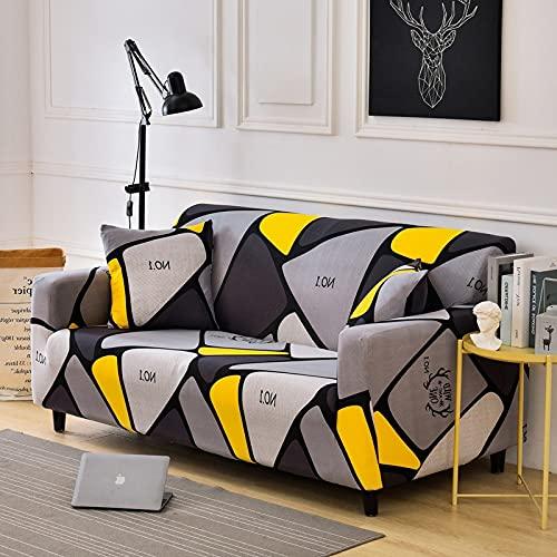 WXQY Funda de sofá de Hoja/Flor, Funda de sofá con Todo Incluido Flexible, Funda de sofá de Esquina, Toalla, Funda de sofá, Funda de sofá de Sala de Estar A16, 2 plazas