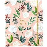 Luxury Wedding Planner | Wedding Organizer Book with Beautiful Souvenir Gift Box | Perfect Wedding Journal for Brides | with Checklists, Calendar, Budget Planning, Guest List | Pink & Foliage
