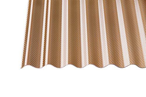 Acryl Wellplatten Profilplatten Sinus 76/18 wabe Struktur bronce 3 mm (2500 x 1045 x 3 mm)