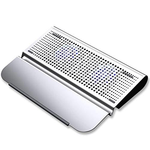 haozai Base De Refrigeración para Portátil,Soporte Ajustable,diseño De Puerto USB Doble,diseño De Deflector Oculto,Enfriador De Computadora Portátil con 5 Ventiladores Silenciosos