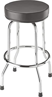 BIG RED TRP6185 Torin Swivel Bar Stool: Padded Garage/Shop Seat with Chrome Plated Legs, Black